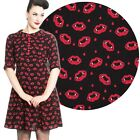 Hell Bunny Kiss Me Deadly Dress Black Rockabilly Pin Up Retro Vintage Lips