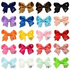 3 '' Bow Kid Girls Baby Hair Bow Clip Hairpins Grosgrain Ribbon Boutique