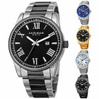 Men's Akribos XXIV AK936 Sunray Dial Date Stainless Steel Bracelet Watch