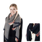 striped blanket scarf with fringe Oversized blanket scarf Christmas present gift