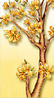 3D Gold shiny floral tree Wallpaper Decal Decor Home Kid Nursery Mural Home