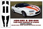 GE-QH-293 & QH-444 1998-02 CHEVY CAMARO SS STRIPE KIT - COUPE - HAS ROOF STRIPES