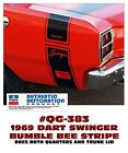 GE-QG-383 1969 DODGE DART - DART SWINGER - BUMBLE BEE STRIPE KIT - LICENSED $ USD