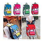 Fashion 3D Jump Style 2D Drawing Cartoon Paper Bag Messenger Tote Comic Backpack