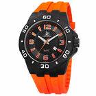 Men's Joshua & Sons JX115 Quartz Date Sporty Silicone Strap Watch
