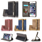 Luxury Magnetic Canvas Wallet Card Holder Stand Case Cover For iPhone 7 / 7 Plus
