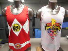 Mens Licensed Power Rangers Reversible Basketball Jersey Shirt New S, M, XL, 2XL