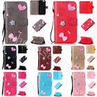 Handmade Bowknot Wallet Case Synthetic Leather Stand Cover For Cellphone + Strap