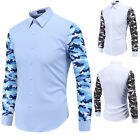 Luxury Mens Long Sleeve Designer Casual Shirt Slim Fit Stylish Dress Shirts Tops