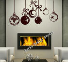 CHRISTMAS WINDOW DECORATION / XMAS BAUBLES STICKERS / CRISTMAS WALL STICKER /S26