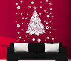 CHRISTMAS WINDOW DECORATION / XMAS TREE STICKERS / CRISTMAS WALL STICKER / S28
