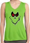 Ladies Halloween Ghost Face Sleeveless Competitor Shirt