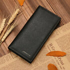 Fashion #B Men's Wallet Long Wallets Leather Genuine Travel Wallet Men Billfold