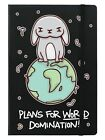 Plans For World Domination A5 Black Notebook 14x21cm