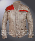 Genuine Waxed Leather Star Wars The Force Awakens Finn John Boyega Jacket £129.95 GBP