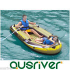 Single/Double Inflatable Boat Kayak Canoe Blow Up Hold 190kg Drift Fishing+Oars