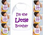 Rabbit Skins Infant Cotton Snap Bib I'm The Little Brother