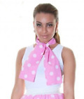 Ladies Pink Glasses Scarf Set Grease 50s Fancy Dress Hen Nights Party 1950s