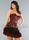 Burleska Red Thread Black Tulle Layer Goth Punk Alternative Women Mini Skirt