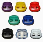 S024 (10 pcs) 8 Color Mix Choose Cord Lock Toggles Bean Two Hole Double Stops