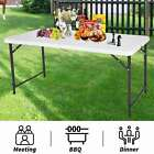 FoxHunter Portable Folding Trestle Table Heavy Duty Plastic Camping Garden Party