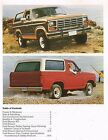 1984 Ford BRONCO Truck Brochure / Catalog with Color Chart: XLT, 4x4, 4WD