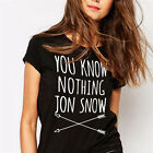 YOU KNOW NOTHING JON SNOW Casual Tops Tee Women men Cotton short sleeve T-shirt