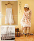 Mori Girls Small Fresh Lace Solid color Bottoming Suspender Dress Cute#10-T-57
