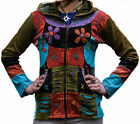 Women Pixie Hooded Festival Winter Jacket Full Sleeved Ethnic Gothic Cardigan