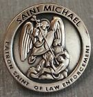 "St. MICHAEL ""Patron Saint of Law Enforcement"" Antique GOLD Pate Lapel Pin"