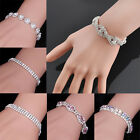 Luxury Women Charm Crystal Rhinestone Cuff Bracelet Bangle Jewelry Fashion Gift