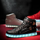Unisex New Fashion LED Shoes Light Up Sports Casual Luminous High Top Sneakers