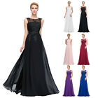 Long Formal Chiffon Ball Gown Evening Prom Party Dress Plus Size Appliques New