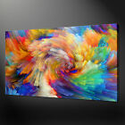COLOURFUL SWIRL CANVAS PRINT PICTURE WALL ART FREE UK DELIVERY VARIETY OF SIZES