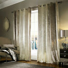 Natala Champagne luxury velvet lined Eyelet curtains, by Kylie Minogue