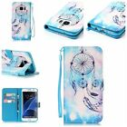 Newest Blue Dream catcher wallet Leather case cover with strap for various phone