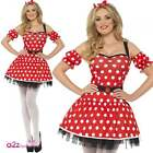 WOMENS ADULT MADAME MOUSE SPOT SPOTTY LADIES SEXY FANCY DRESS COSTUME UK: 8-14