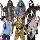 BOYS ADULT ZOMBIE HALLOWEEN SCARY GORY UNDEAD FANCY DRESS COSTUME OUTFIT