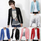 New Men's Slim Fit Formal Casual One Button Suit Blazers Coat Jacket XS-XL Cheap