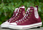 Converse All Star Chucks Damenschuhe Turnschuhe High Top Sneaker Leder BORDEAU