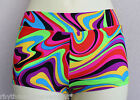 Hotpants/Shorts Psychedelic Swirl ADULTS X/S to Large Pole Dance Roller Derby