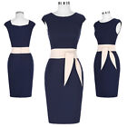 40s Women's Vintage Style Sleeveless Pencil Dress Casual Party Bodycon Housewife