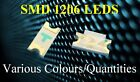 1206 SMD LED SUPER ULTRA BRIGHT SURFACE MOUNT VARIOUS COLOURS/QUANTITIES