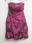 NEW  ARIELLA LONDON  SIZE 6 RED PINK SATIN PARTY PROM EVENING SHORT DRESS Y39