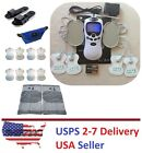 TENS Unit Tens Massager Digital Therapy Acupuncture Pads Machine White - Knee V