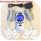 TENS Unit rechargeable Massager Digital Therapy Acupuncture Pads TWO outputs E