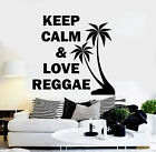 Vinyl Wall Decal Reggae Music Rastafari Quote Palm Stickers (ig3780)