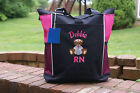 Personalized tote bag nurse RN CNA LPN MD BSN Medical embroidered large monogram