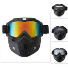 ILM Motorcycle Helmet Detachable Modular Face Mask + Goggles Protective Shield