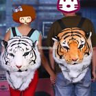 Cool Huge Animal Style Backpack Tiger Head Lion White Tiger Head Bags FT